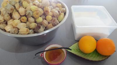 Ingrdients pour la recette : Confiture de physalis ou &quot;d&#39;amour en cage&quot;