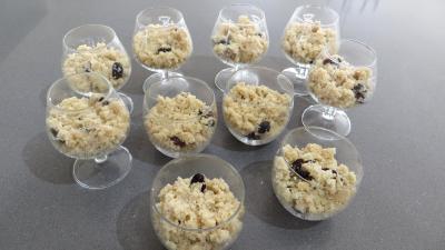 Couscous sucré aux figues en verrines - 3.3
