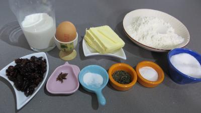 Ingrédients pour la recette : Biscuits au thé vert à la menthe