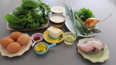Ingrédients pour la recette : Quiche aux épinards et lotte