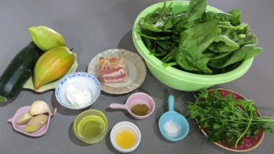 Ingrédients pour la recette : Epinards à l'arôme d'orange