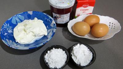Ingrédients pour la recette : Mousse de mascarpone au coulis de fruits rouges