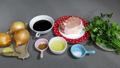 Ingrédients pour la recette : Porc au miel et vinaigre balsamique