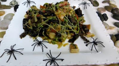 légumes poêlés : Assiette de poêlée de germes de soja