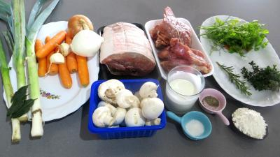 Ingrédients pour la recette : Blanquette de veau facile