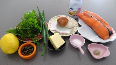 Ingrédients pour la recette : Saumon à la crème