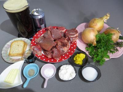 Ingrédients pour la recette : Carbonnade Flamande