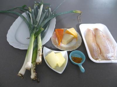 Ingrédients pour la recette : Poireaux et églefins faciles en cassolettes