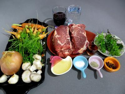 Ingrédients pour la recette : Boeuf aux carottes