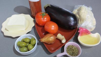 Ingrédients pour la recette : Pizza à l'aubergine