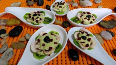 jus de citron vert : Cuillères aux kiwis en amuse-bouche ou entrée