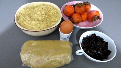 Ingrédients pour la recette : Galette des rois aux kakis
