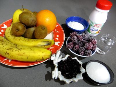 Ingrédients pour la recette : Assiette de kiwis
