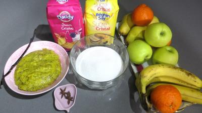 Ingrédients pour la recette : Marmelade de kiwis et de fruits d'hiver