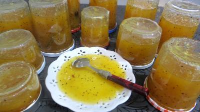 clémentine : Coupelle de marmelade de kiwis et de fruits d'hiver