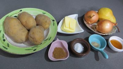 Ingrédients pour la recette : Purée de poire et pommes de terre
