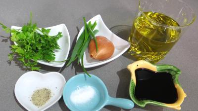 Ingrédients pour la recette : Vinaigrette à l'échalote