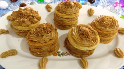 millefeuilles : Millefeuilles à la crème pâtissière pralinée