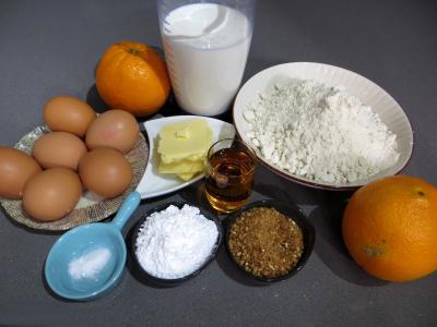 Ingrédients pour la recette : Crêpes Toinette à l'orange