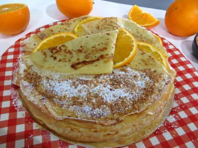 crepes sucrees : Assiette de crêpes Toinette à l'orange
