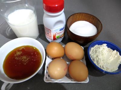 Ingrédients pour la recette : Crème pâtissière au caramel