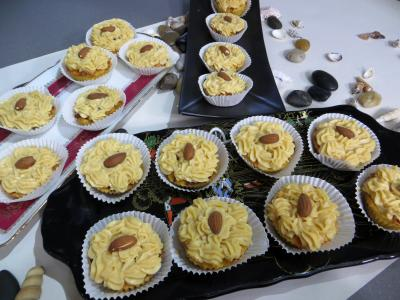 Crème pâtissière au caramel : Petits moules de restes de brioches à la crème pâtissière au caramel