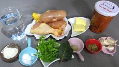 Ingrédients pour la recette : Ragoût de poulet
