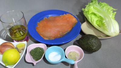 Ingrédients pour la recette : Carpaccio de saumon fumé