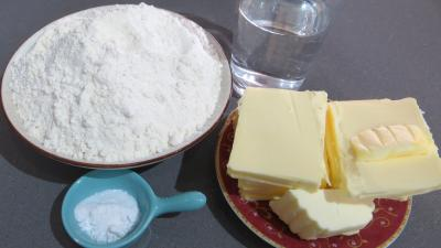 Ingrédients pour la recette : Pâte feuilletée à la méthode rapide