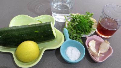 Ingrédients pour la recette : Sauce à la courgette au sésame