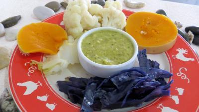 Image : Assiette de chou-fleur et légumes vapeur