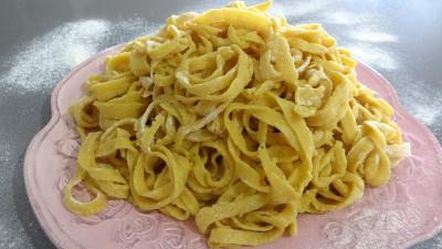 Cuisine dittique : Assiette de tagliatelle fraches