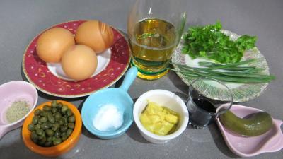 Ingrédients pour la recette : Sauce tartare