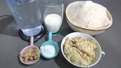 Ingrédients pour la recette : Pain complet sur pâte fermentée