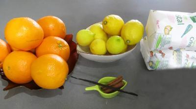 Ingrédients pour la recette : Confiture d'oranges et citrons