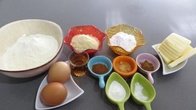 Ingrédients pour la recette : Pâte sablée aux épices