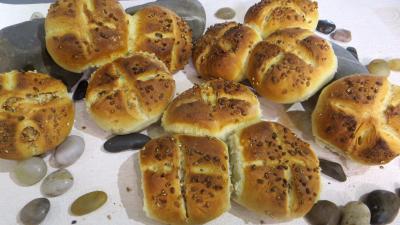 Image : Petits pains rustiques aux grains de blé