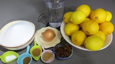 Ingrédients pour la recette : Chutney aux citrons