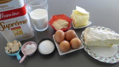 Ingrédients pour la recette : Pain au brie