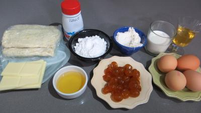 Ingrédients pour la recette : Chaussons aux kumquats