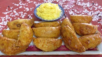 Crèmes sucrées : Assiette de chaussons aux kumquats