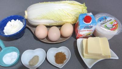 Ingrédients pour la recette : Chou chinois au fromage de chèvre frais