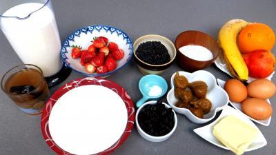 Ingrédients pour la recette : Verrines de riz aux fruits