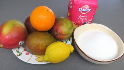 Ingrédients pour la recette : Confiture de mangues