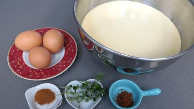 Ingrédients pour la recette : Blinis aux oeufs