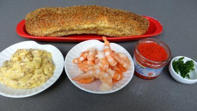 Ingrédients pour la recette : Canapés ou smorrebrod danois