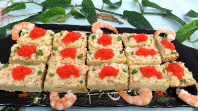 Amuse-bouche : Assiette de canapés ou smorrebrod danois