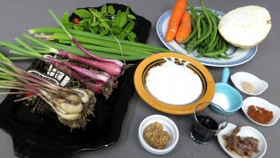 Ingrédients pour la recette : Céleri rémoulade et crudités
