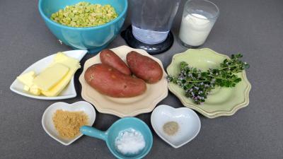 Ingrédients pour la recette : Pois cassés en purée