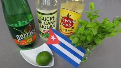 Ingrédients pour la recette : Mojito du salsero (cocktail)
